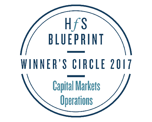 wipro rated in the winners circle global number 1 by Hfs in the capital markets operations blueprint 2017