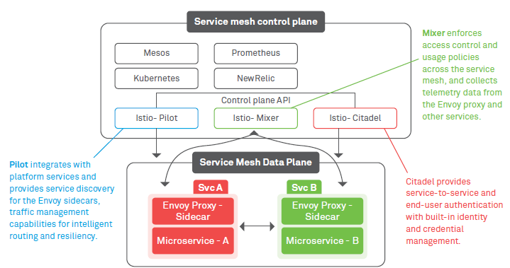 Service mesh for microservices management